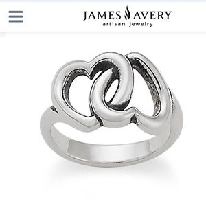James Avery Sterling Hearts Ring